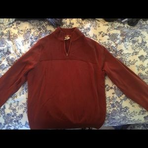 Dockers Red / Rust colored zip up sweater